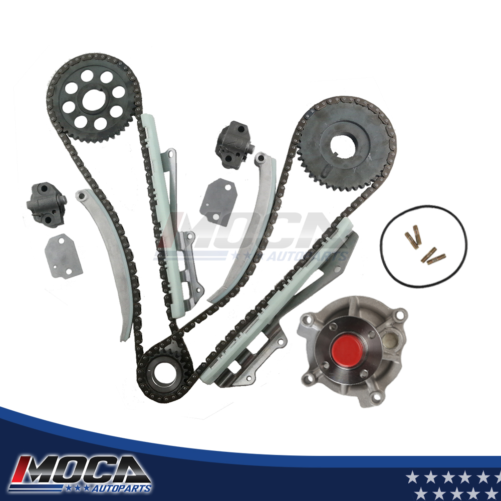 MOCA Timing Chain Water Oil Pump Kit Compatible with 97-02 Ford E150 F150 Expedition 4.6L WINDSOR